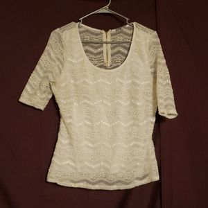 Lacey half sleeved shirt